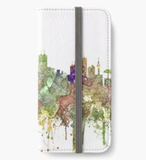 Honolulu, Hawaii Skyline SG - Faded Glory iPhone Wallet/Case/Skin
