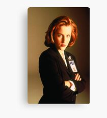 Scully X-files Canvas Print