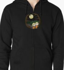 Lost In The Forest Zipped Hoodie