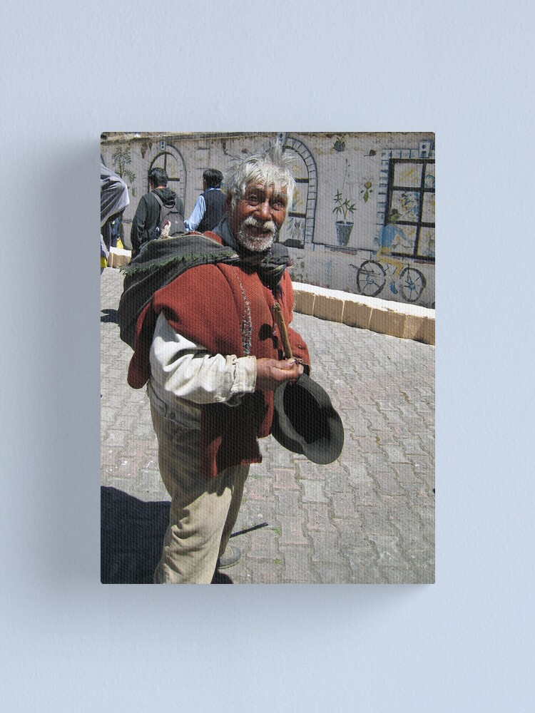 Alternate view of Old Man in Alausí Canvas Print