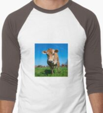 Jersey Moo  Men's Baseball ¾ T-Shirt