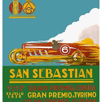 1926 San Sebastian Grand Prix Racing Poster by retrographics