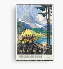 Vintage Travel Poster, Aged and Weathered - Austria  Canvas Print