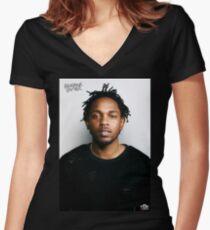 Kendrick Lamar Women's Fitted V-Neck T-Shirt