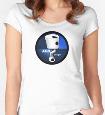 ABD vintage race bike logo - Blue Women's Fitted Scoop T-Shirt