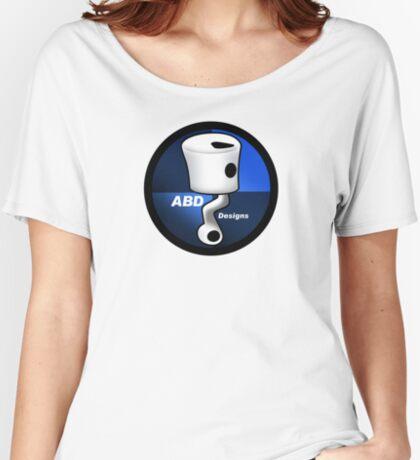 ABD vintage race bike logo - Blue Women's Relaxed Fit T-Shirt