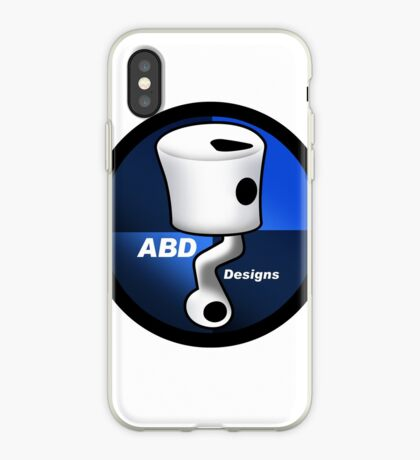 ABD vintage race bike logo - Blue iPhone Case