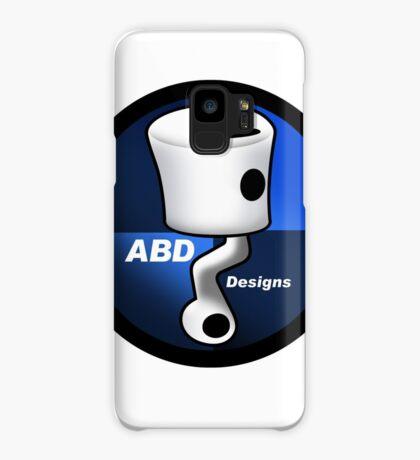 ABD vintage race bike logo - Blue Case/Skin for Samsung Galaxy