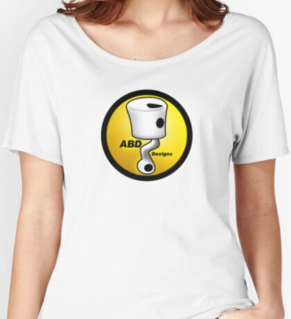 ABD vintage race bike logo - Yellow Women's Relaxed Fit T-Shirt