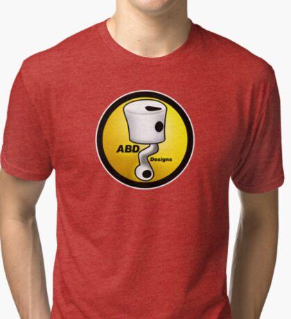 ABD vintage race bike logo - Yellow Tri-blend T-Shirt