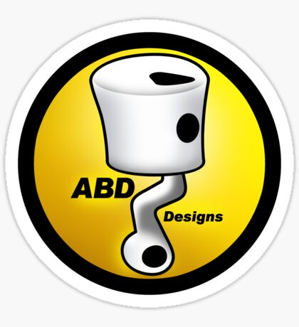 ABD vintage race bike logo - Yellow Sticker