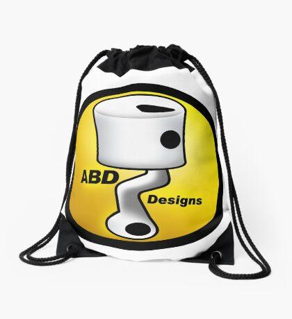 ABD vintage race bike logo - Yellow Drawstring Bag