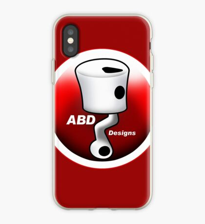 ABD vintage race bike logo - Red iPhone Case