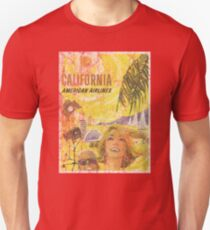 Vintage Travel Poster, Aged and Weathered - California  T-Shirt