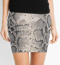 Printed python pattern Mini Skirt