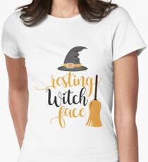 Cute and Cool Funny Halloween Gifts - Resting Witch Face - Best Gift for Him, Her, Men, Women, Boyfriend, Girlfriend, Best Friend, Husband, Wife, Son, Daughter, Dad, Mom, Couples, Brother, Sister T-Shirt