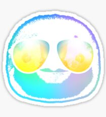 Penguin Neon Face With Glasses Cool Shirt Sticker