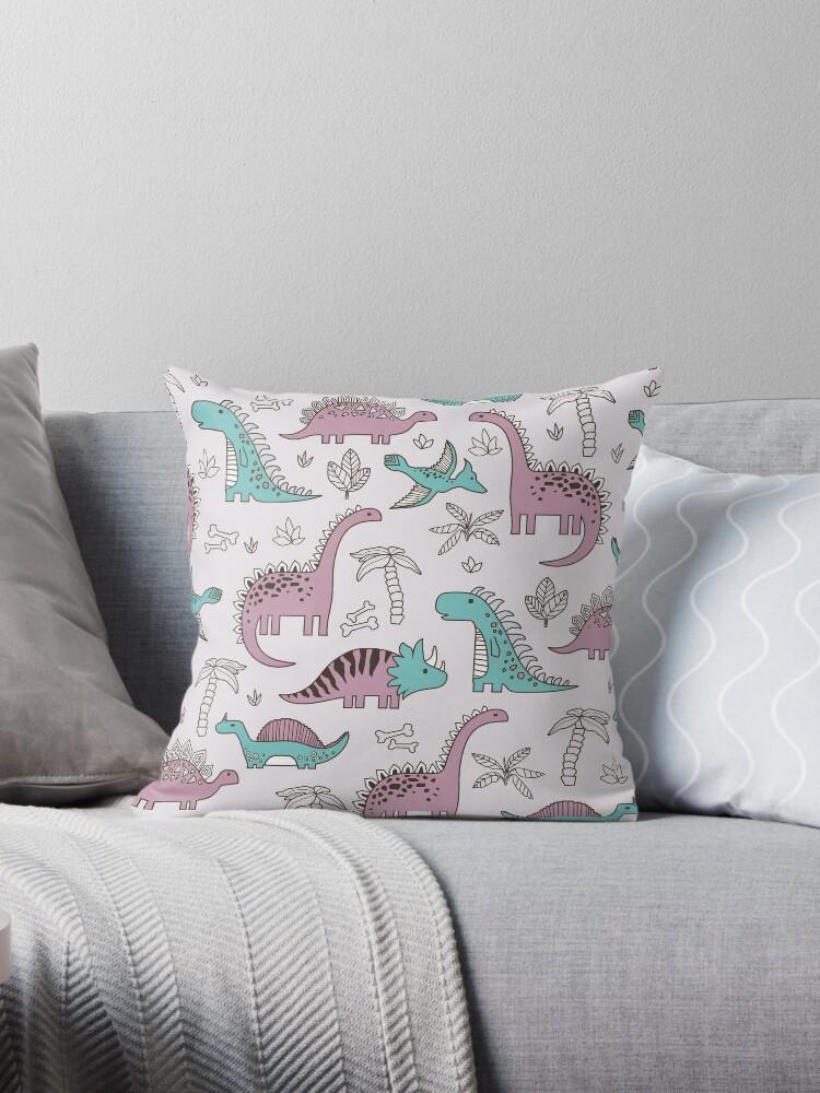 Ornament mit Dinosauriern, Jurassic Park. Entzückendes nahtloses Muster mit lustigen Dinosauriern in der Karikatur von alijun