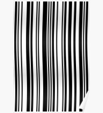Zoe barcode pattern Poster