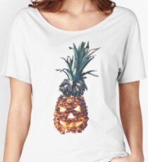 HALLOWEEN PINEAPPLE Women's Relaxed Fit T-Shirt