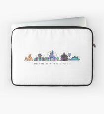 Meet me at my Magic Place. Happiest Place on Earth. Theme Park Skyline. Florida, Paris, California. Laptop Sleeve