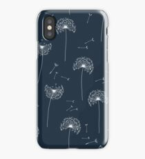 Floral pattern of dandelions iPhone Case/Skin