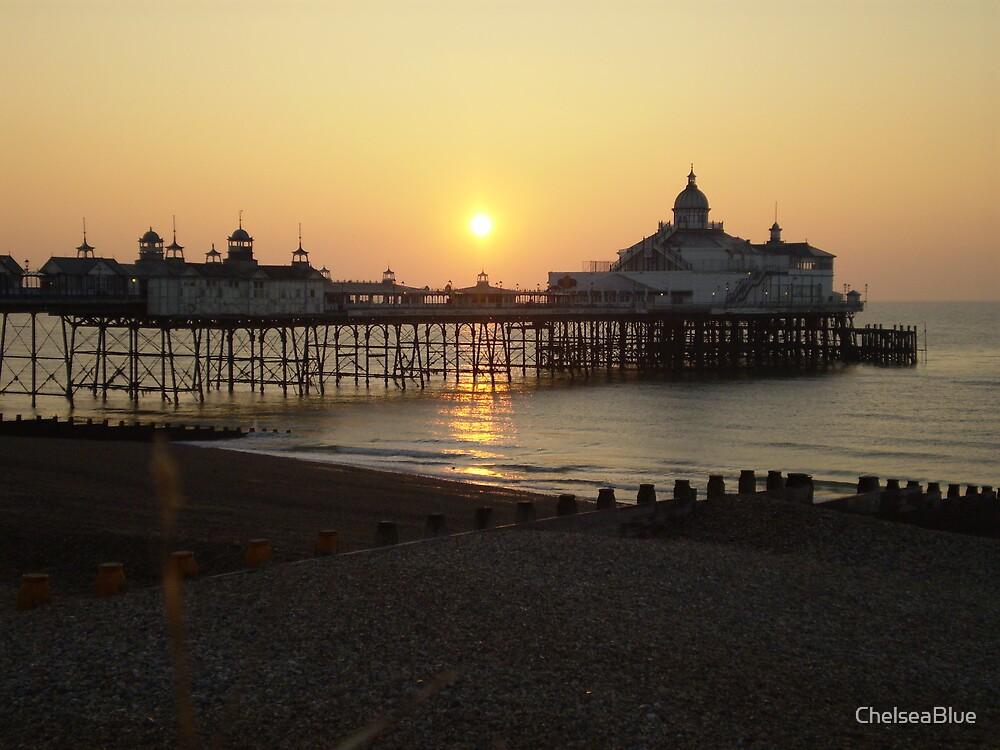 Eastbourne Pier at Sunrise by ChelseaBlue