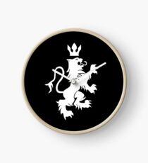 Lion Heraldry Clock