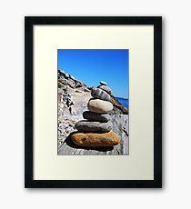 Beach Blocks Framed Print
