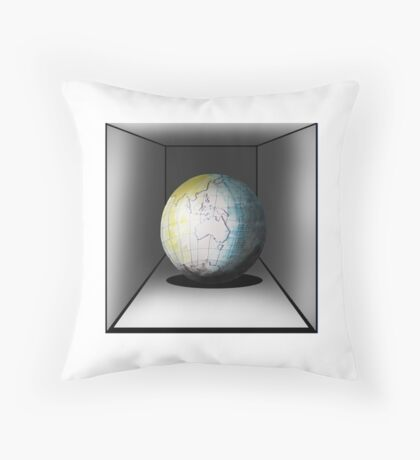 Globe in a box - seriously! Throw Pillow