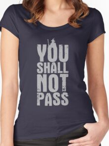 You Shall Not Pass - light grey Women's Fitted Scoop T-Shirt