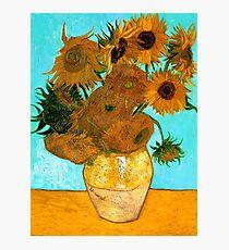 Van Gogh - Still Life Vase with 12 Sunflowers Photographic Print