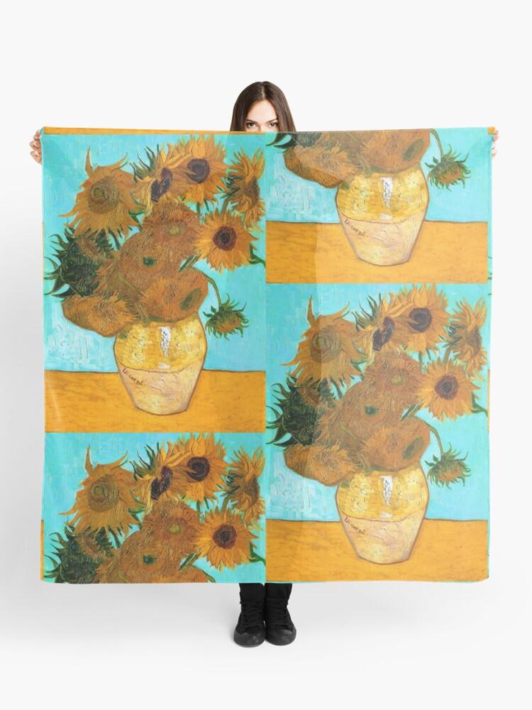 Van Gogh Stillleben Vase Mit 12 Sonnenblumen Tuch Von Newnomads