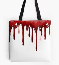 Blood Dripping White Tote Bag