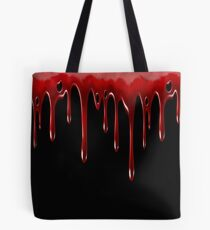 Blood Dripping Black Tote Bag