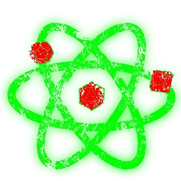 Atomic Dungeons and Dragons D20 - Red and Green by Fuzzyketchup