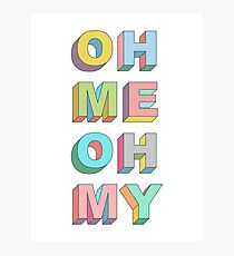 Oh Me Photographic Print