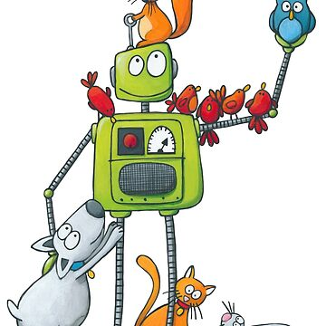 The robot and the animals by laureH