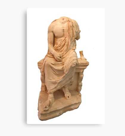 The Statue of The Unidentified Philosopher Canvas Print