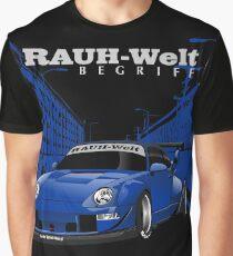 Blue Rauh Welt Begriff Graphic T-Shirt