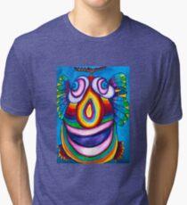 Rainbow Hand Drawn Face Tri-blend T-Shirt