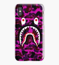 purple shark iPhone Case/Skin