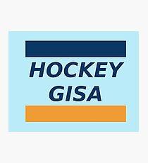Hockey Geezer! Field Hockey Slogan, Field Hockey Humour, Ice Hockey Slogan! Photographic Print
