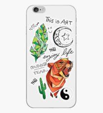 Vinilo o funda para iPhone Kian Lawley tatuajes caja del teléfono