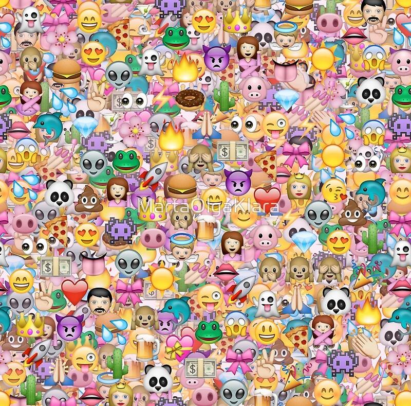 u0026quot happy emoji pattern u0026quot  framed prints by martaolgaklara