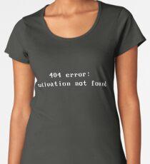 Error 404 : motivation not found Women's Premium T-Shirt