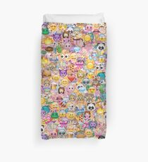 happy emoji pattern Duvet Cover