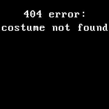 404 Fehler: Kostüm wurde nicht gefunden von geekchic