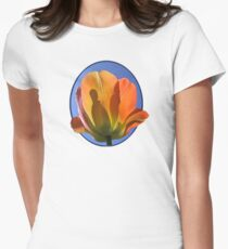 Orange Tulip Against the Sky Womens Fitted T-Shirt
