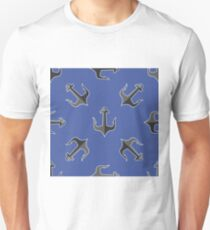 Set of Anchor Isolated on White Background. Anchor Seamless Pattern. T-Shirt